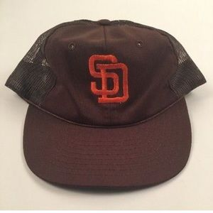 2205414fb1571 ... Vintage 80 s 90 s San Diego Padres SD Snapback Hat